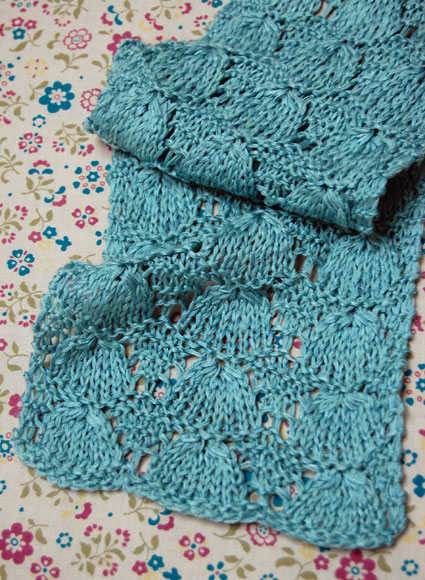 Two Kitties Free Lace Scarf Knitting Pattern Via The Purl Bee
